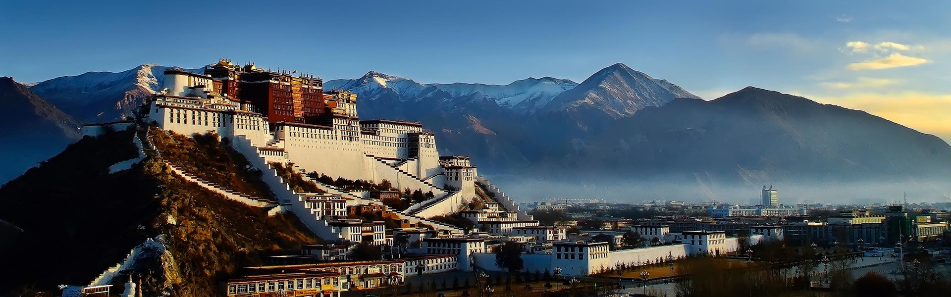 Tibet's majestic Potala Palace in the capital city of Lhasa
