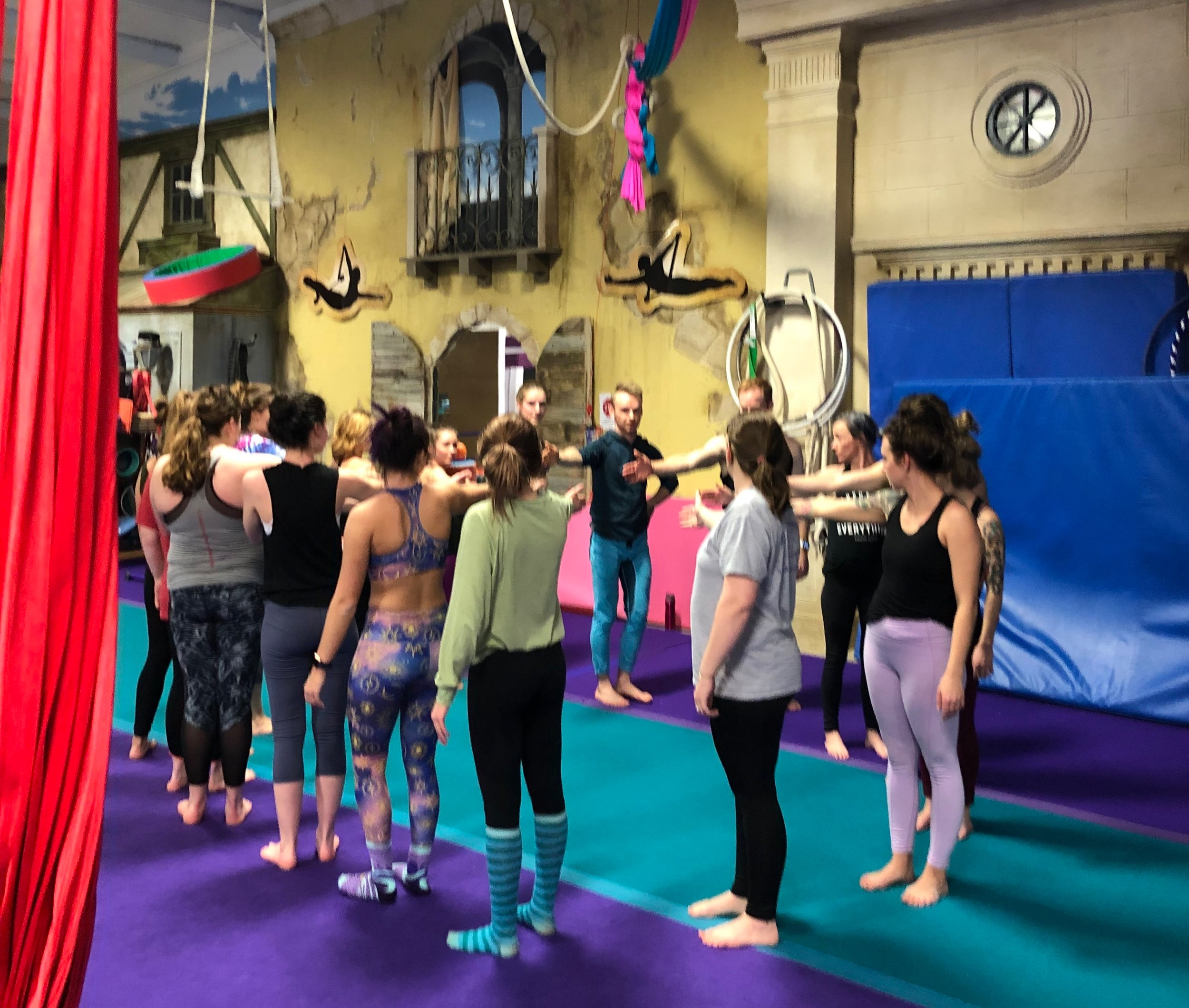 AcroYoga class with Arkansas Acro at ACA