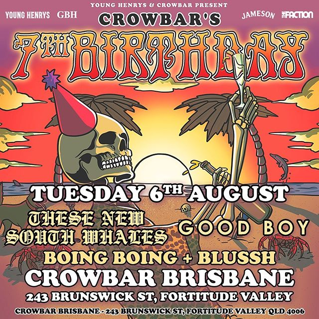 Our show @crowbarbris with @thesenewsouthwhaless @boingboingband and @blusshband  is coming up real quick!