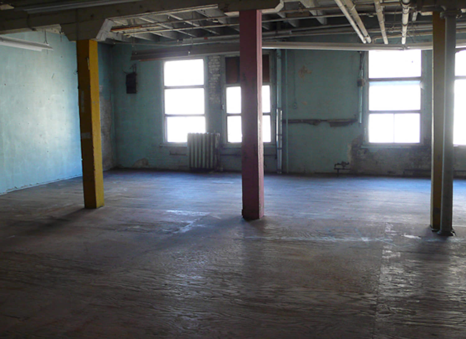 Pi's Studio - Location before.  Pi's Studio was built into an existing unfinished warehouse space