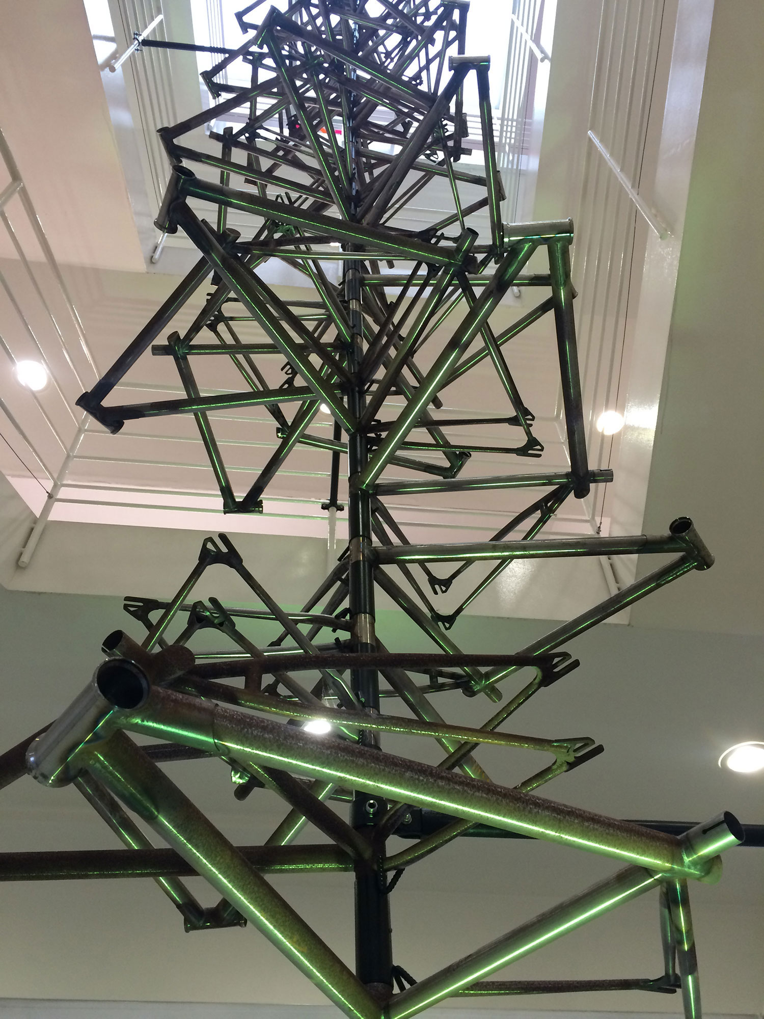 "Upon viewing this sculpture at the London Design Museum's 2016 exhibition about the bicycle, my son Miles (16) whispered to his brother, ""Dad's gonna be here a while."""