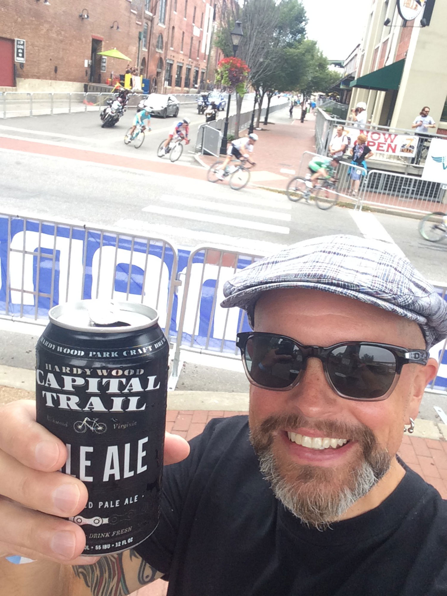 "Exceptions to the ""selfies are stupid"" rule include the UCI 2015 Worlds in Richmond, Virginia… And beers with bike logos."
