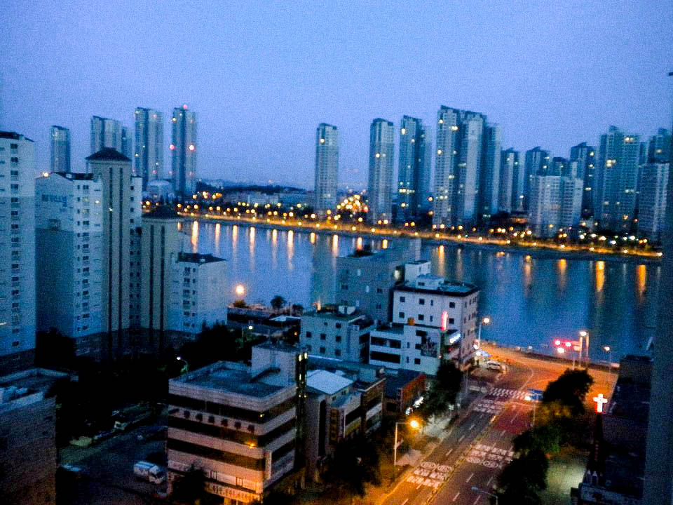 View from apartment in Sorae, South Korea