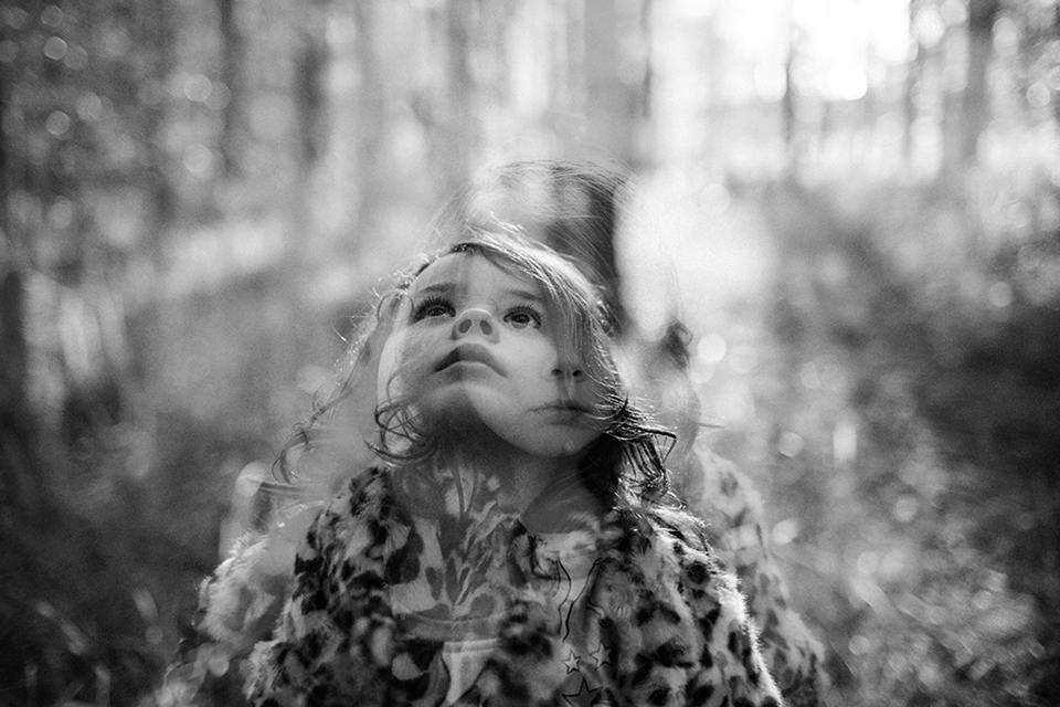 Marina Locke  pushed herself and photographed this incredible double exposure.