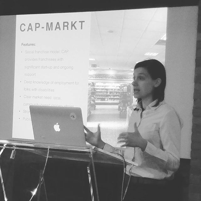 .@bronwynoatley now talking about CAP-Markt, a chain of 100+ grocery stores across Ger employing ppl w/disabilities #socent #tw