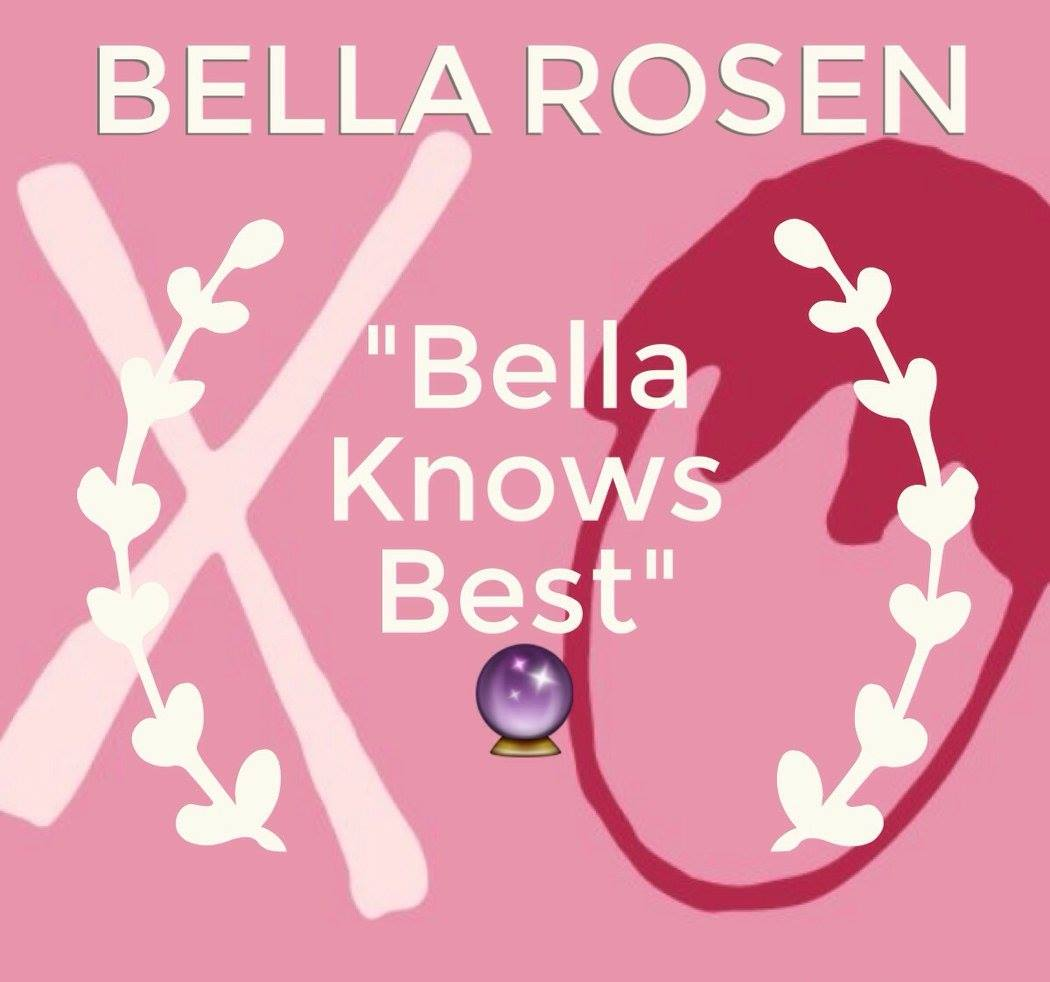 "We decided to give you the ""Bella Knows Best"" Award because you DO! You keep us young, letting us in on all the cool new slang and updating us on college shenanigans. It isn't just your age that made us think of you for this award, but your creative mind and ""think-outside-of-the-box""   mentality. You are always coming up with cool interesting fun ideas. We decide to do a photo-shoot, and you suggest that we wear funny hats! Or we want to add an interview to an episode, and you suggest that instead we take to the streets, Amy-Schmuer style, and get a bunch of spontaneous sound-bytes from strangers! Whatever it may be, your ideas make our podcast 100% better and we are so thankful for that!"