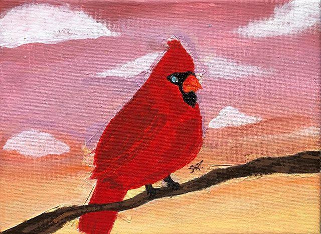 No better gift than art! Thank you @sm.tofu for this beautiful cardinal.