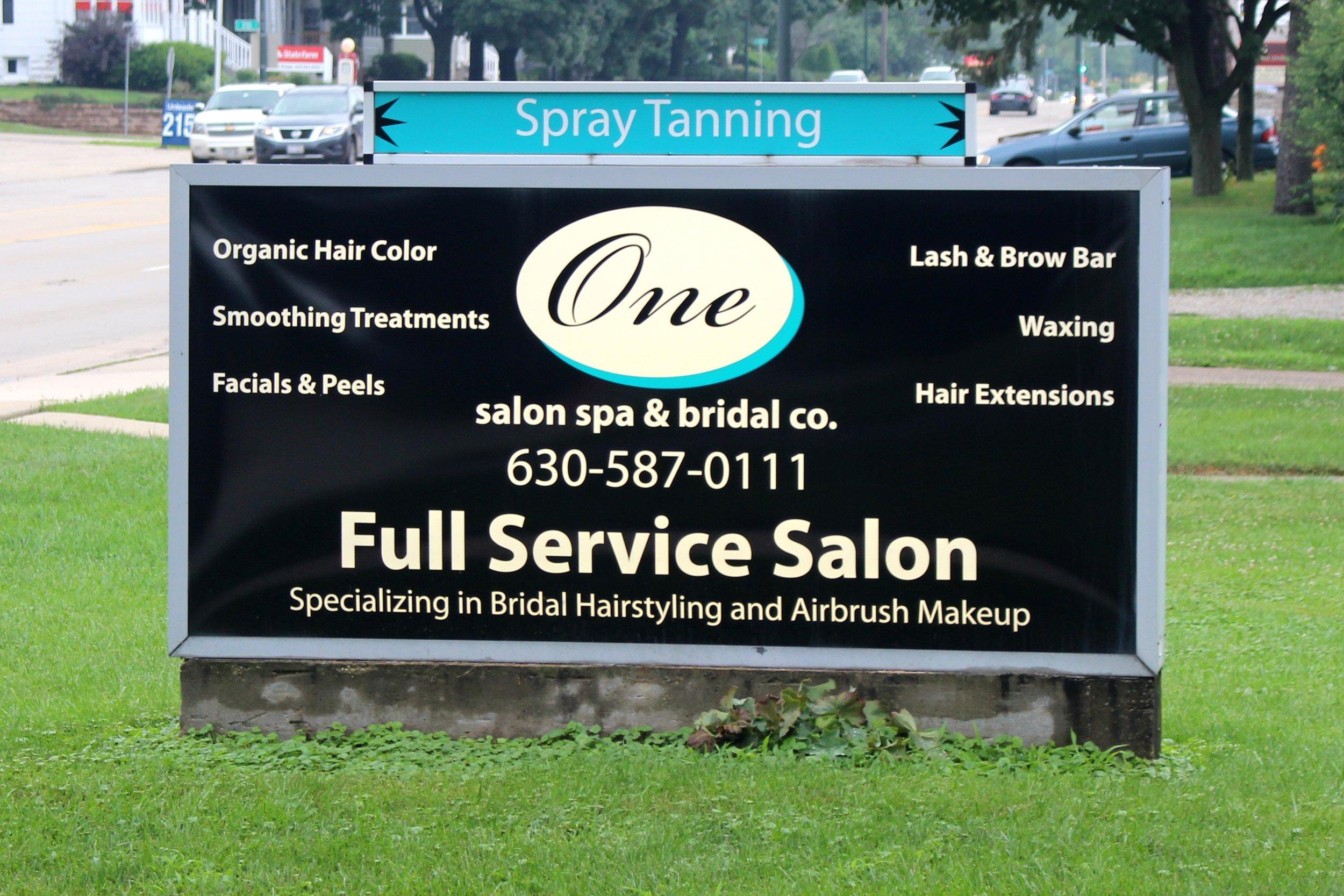 One Salon Sign