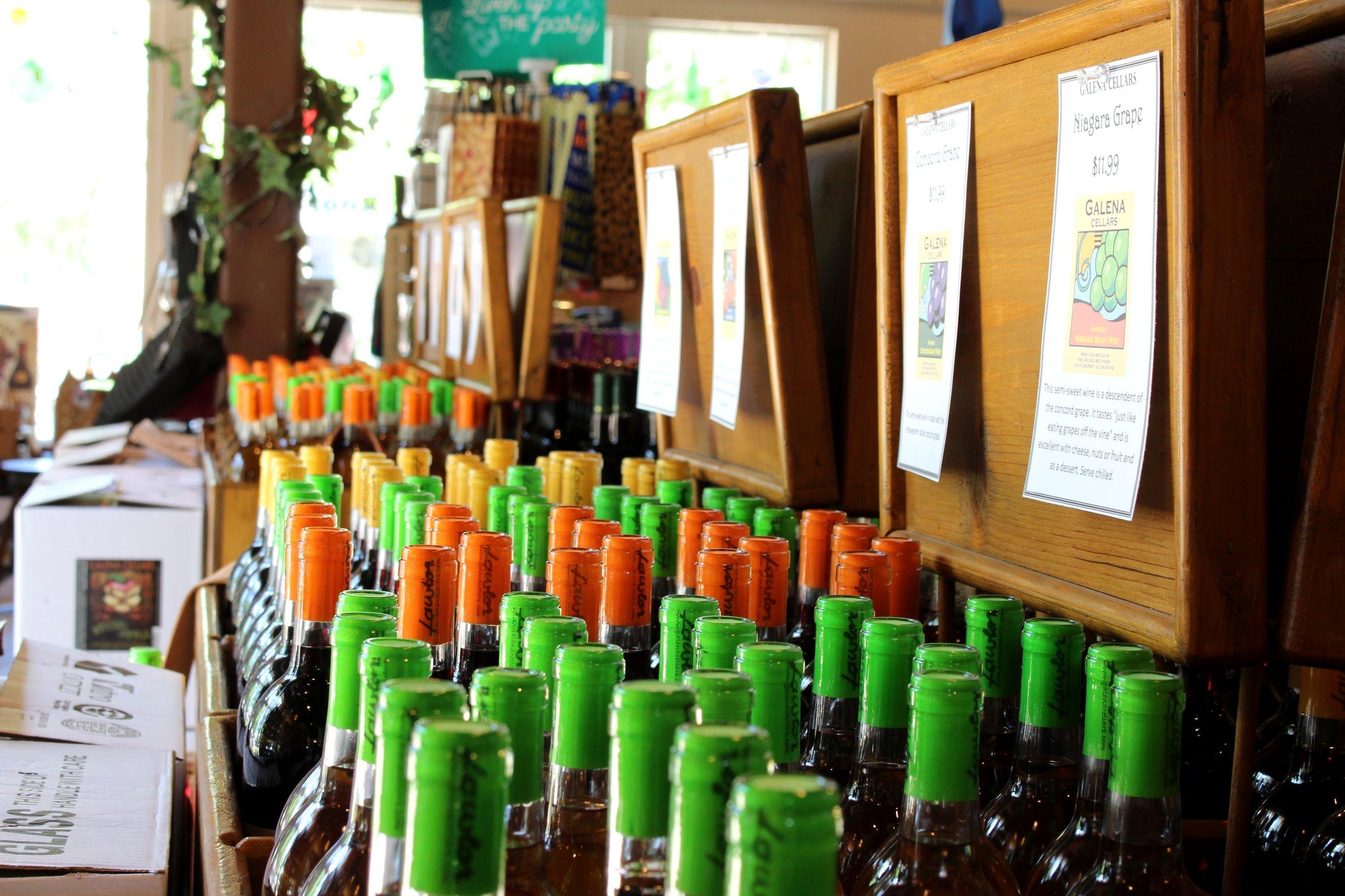 Galena Cellars Bottle Bins