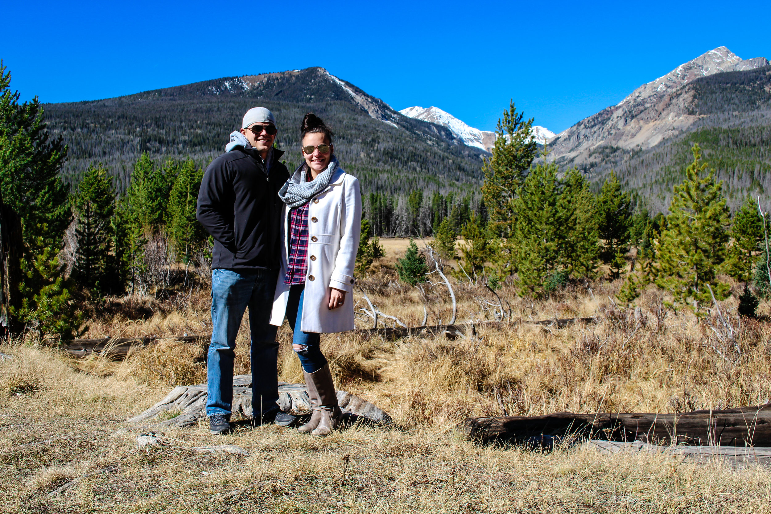 Laura and Ryan in Rocky Mountain National Park