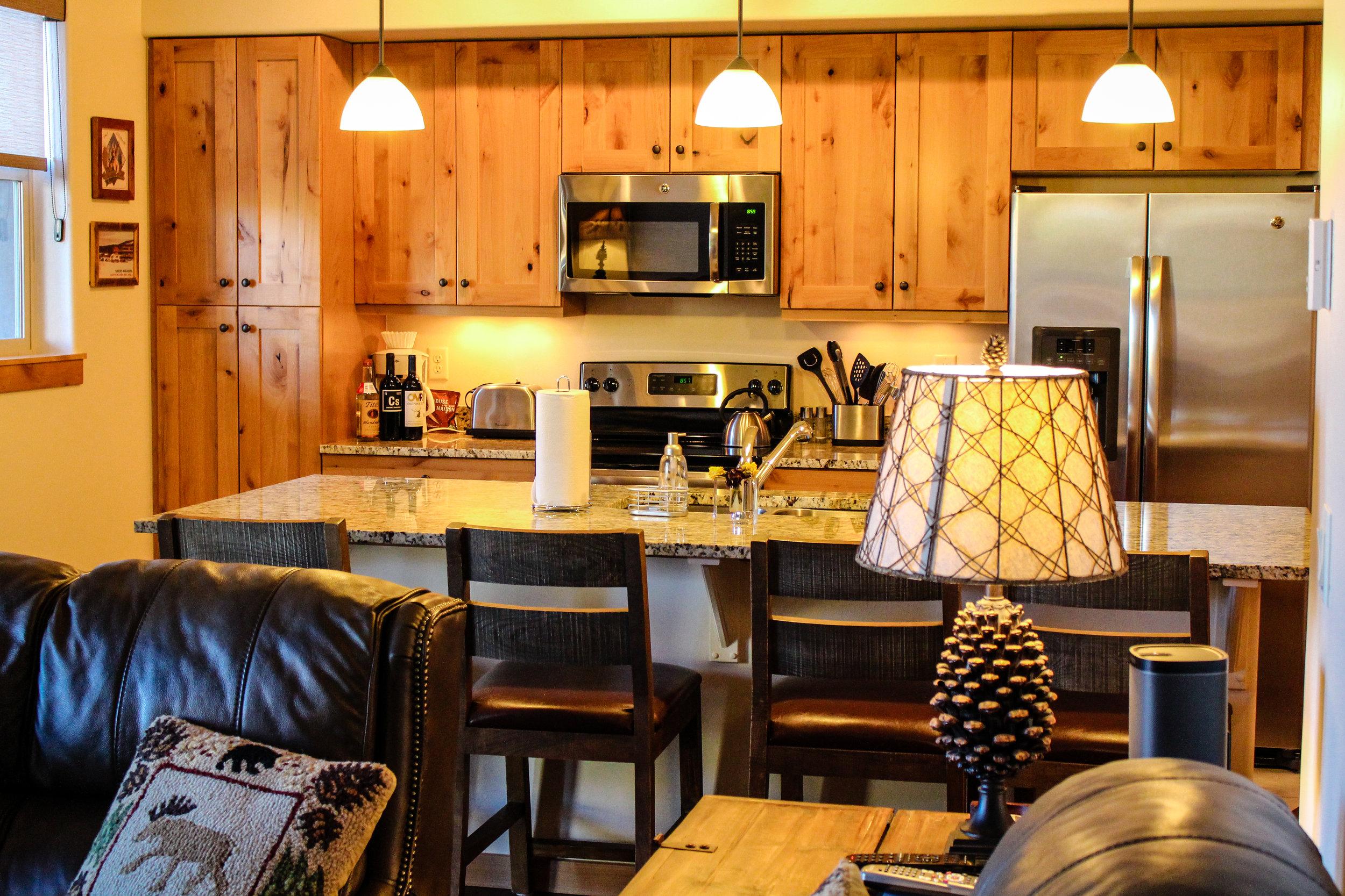 Trailhead Lodges Kitchen