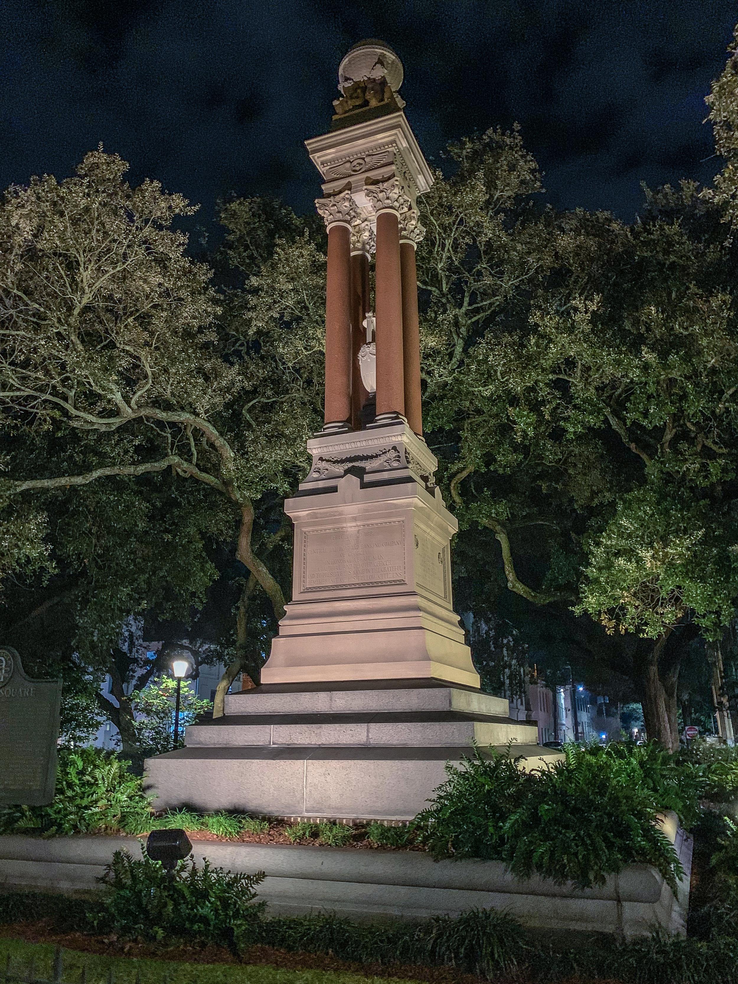 LSS Savannah Square at Night