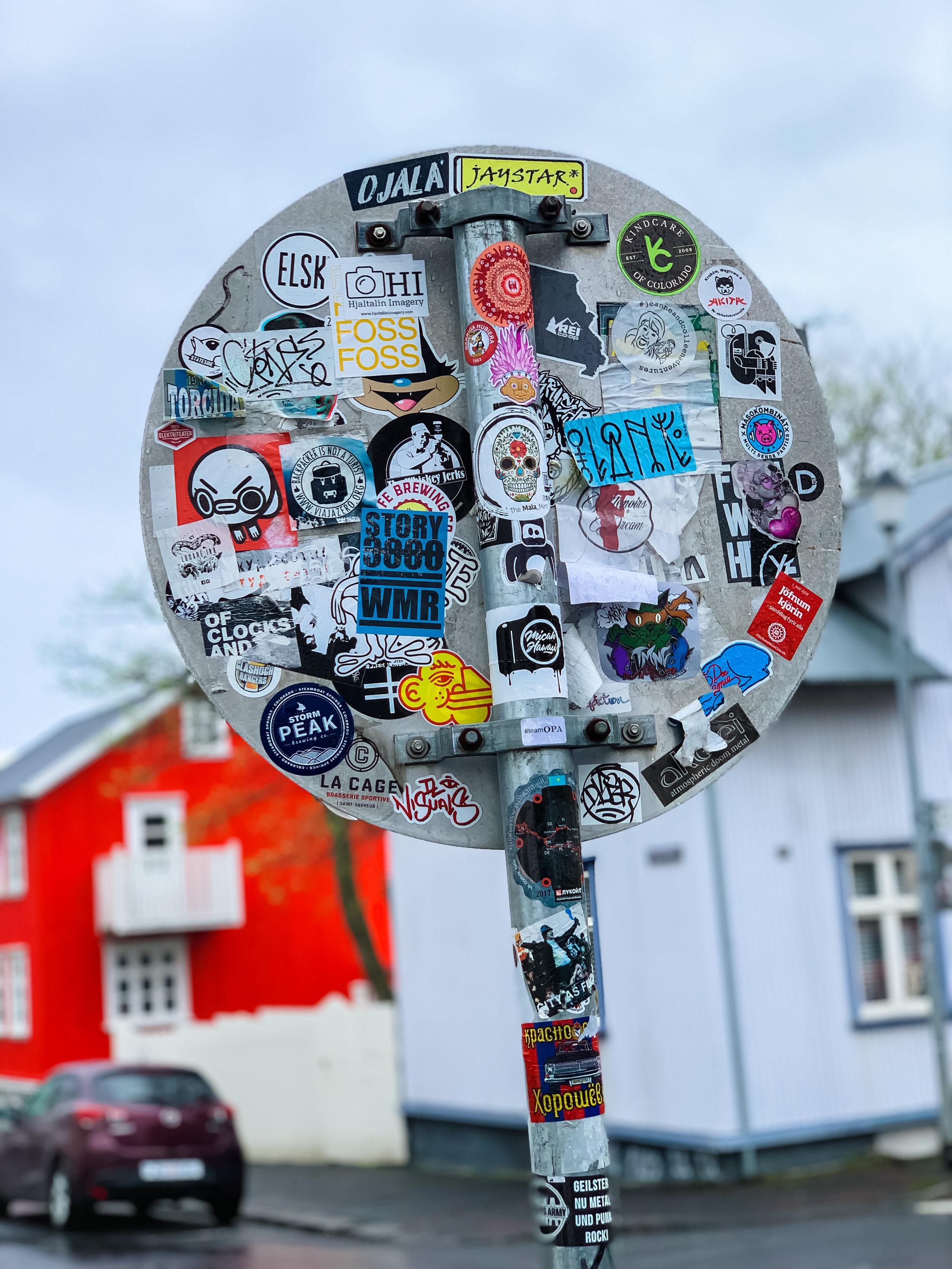 LSS Reykjavik Iceland Stop Sign Stickers