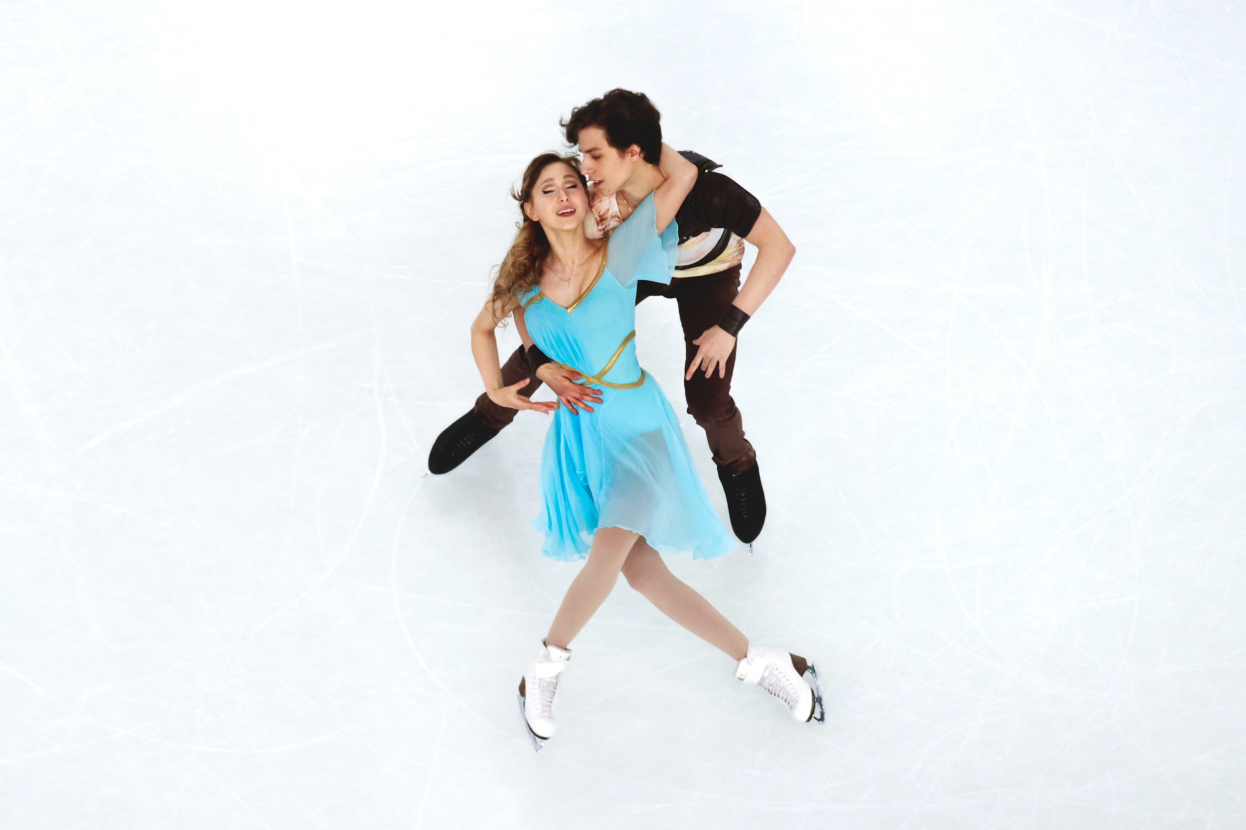 Angelique Abachkina and Louis Thauron from France skate during the Ice Dance Free Dance Skating program of the ISU World Junior Figure Skating Championships 2016 at The Fonix Arena on March 19, 2016 in Debrecen, Hungary.