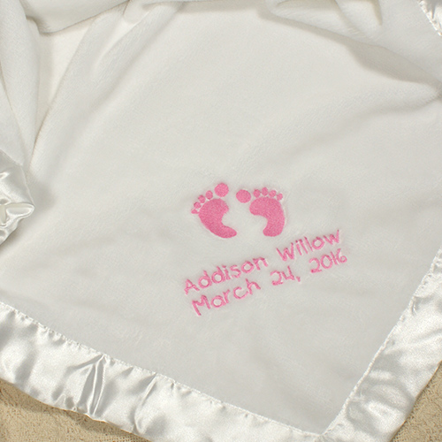 Personalised New Born Baby Shawl Blanket Embroidered Name New Born Baby Gift