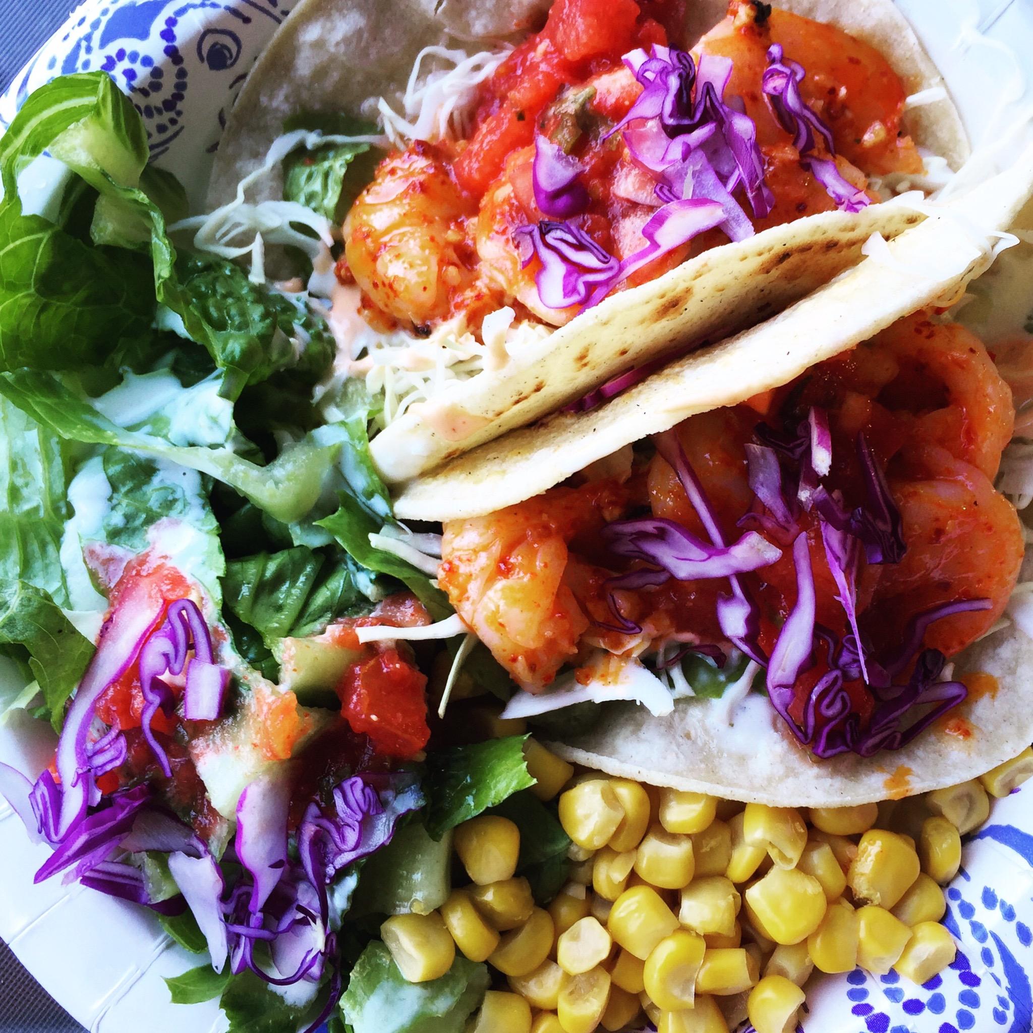 Kauai Food Truck shrimp tacos