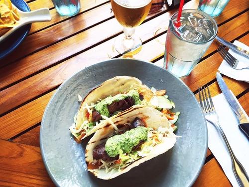 Duke's on Kalapaki Beach had the best steak tacos!