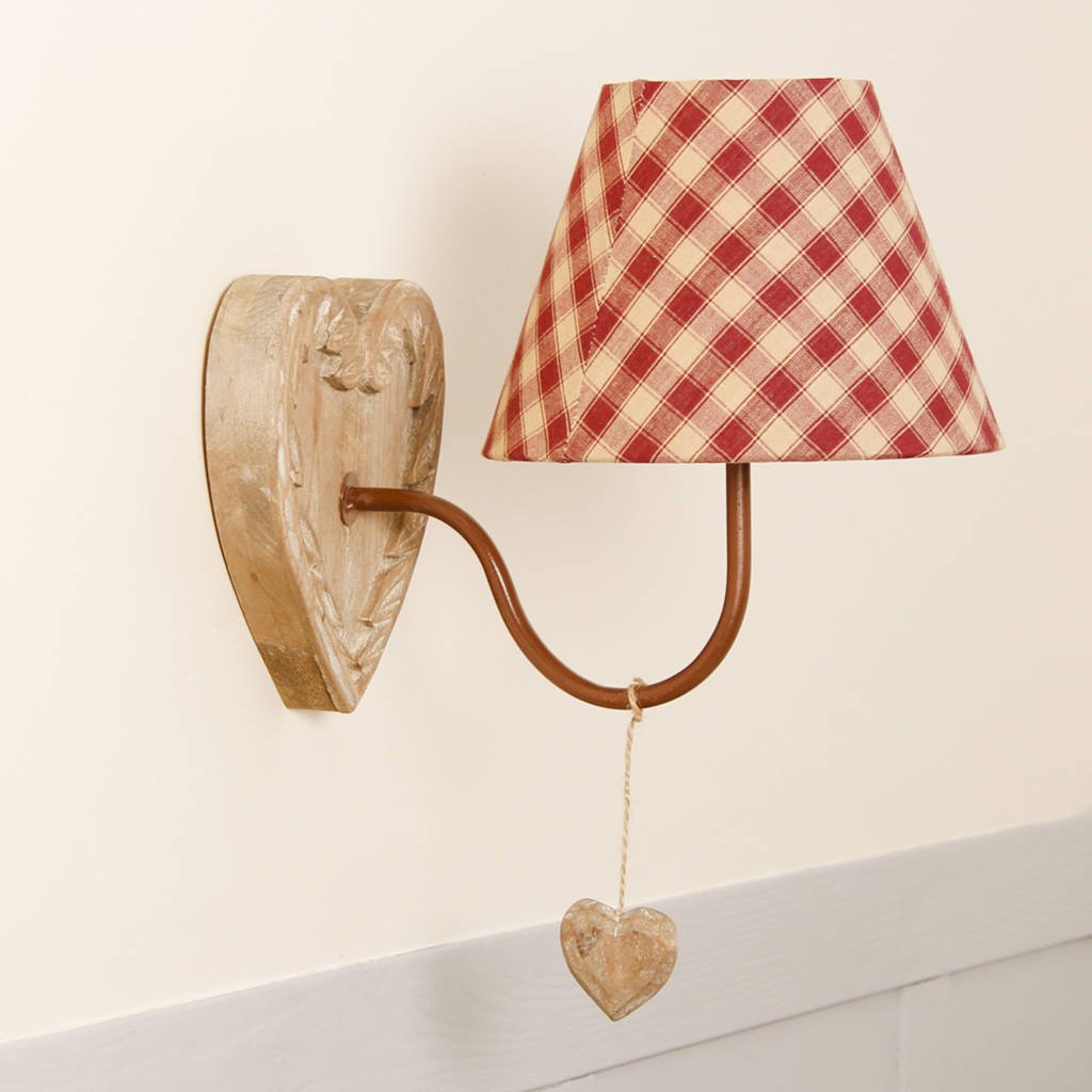 GO ALPINE CUTENESS WITH THESE GINGHAM WALL LIGHTS