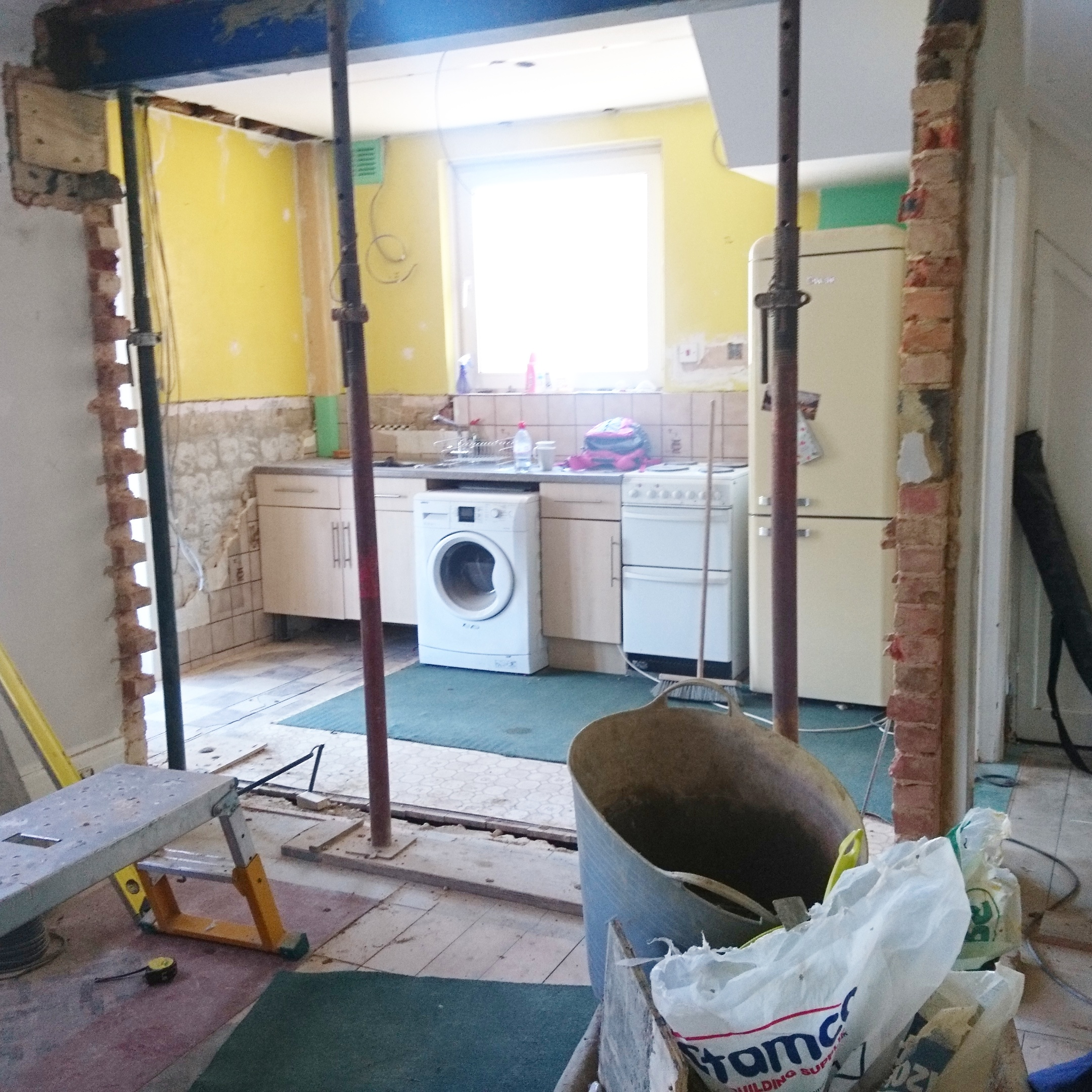 after-kitchen load bearing wall knocked down