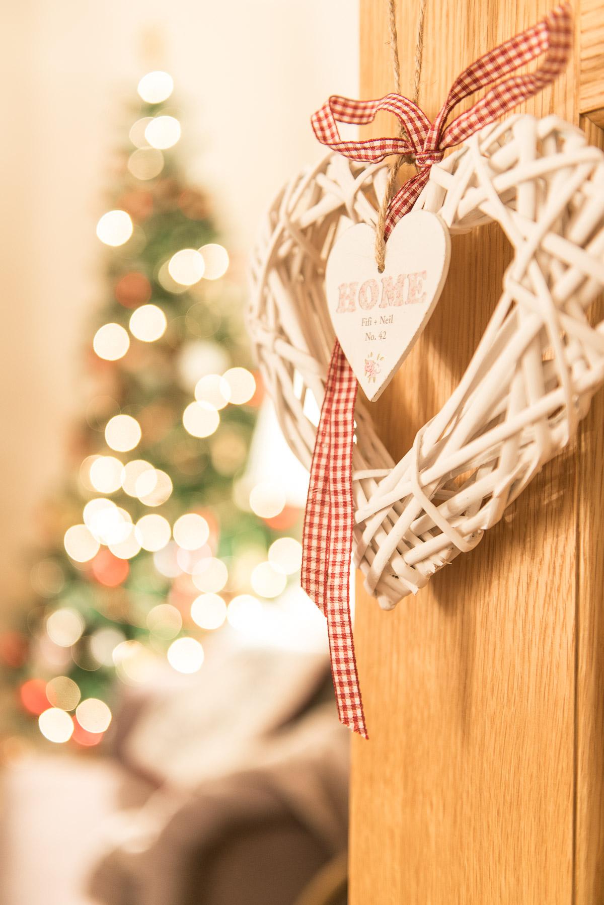 Christmas Wicker Heart