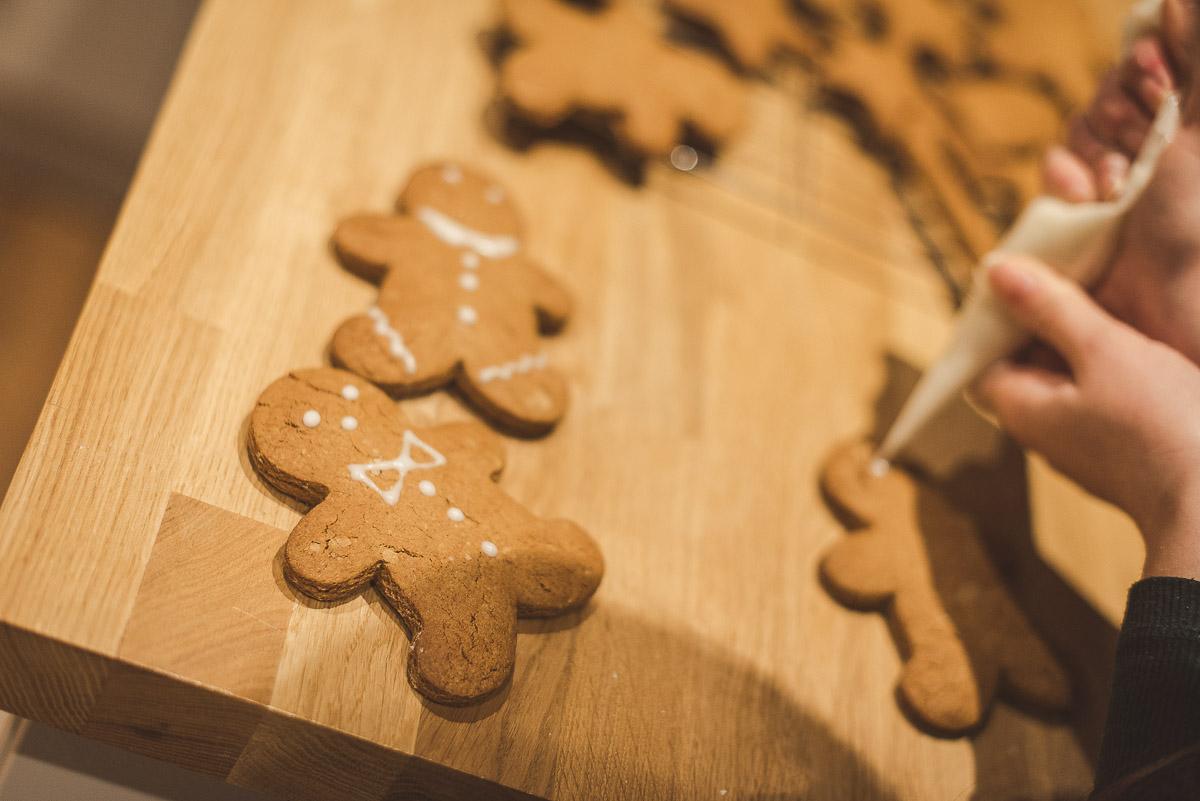 Gingerbread men Christmas biscuits