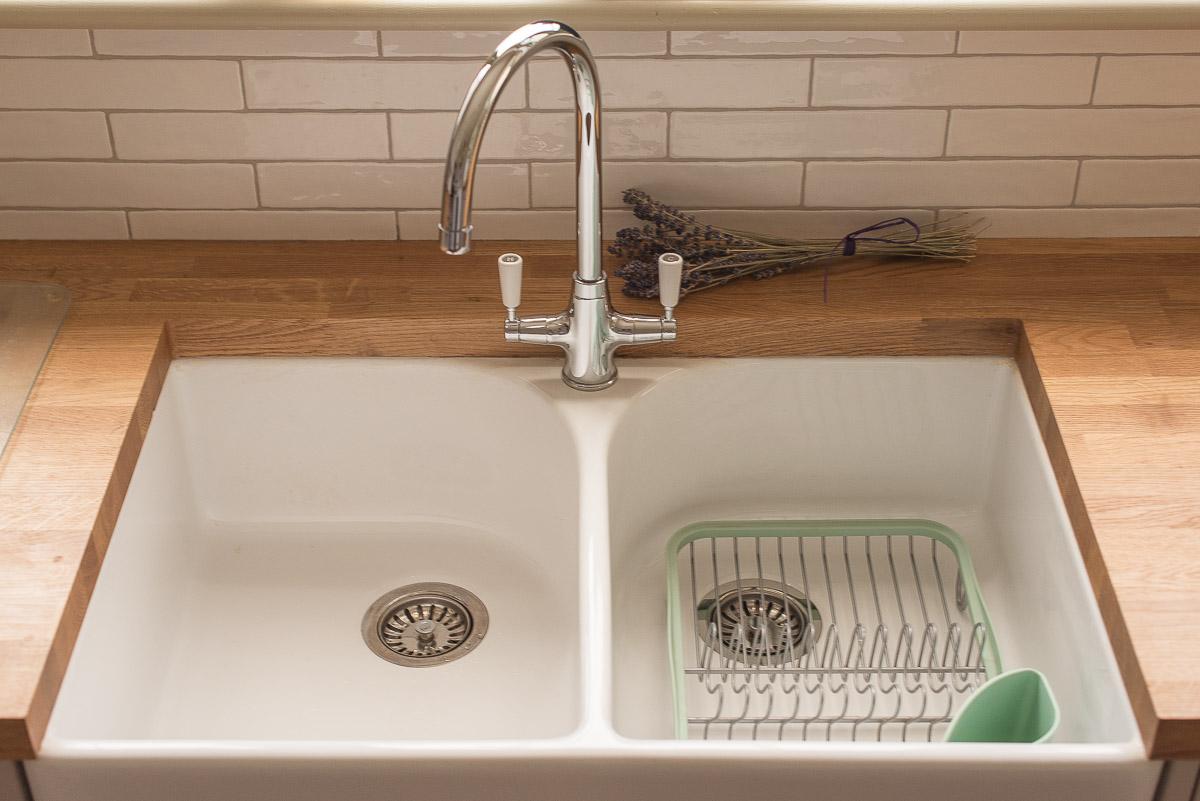 1930s kitchen diner renovation Belfast Sink
