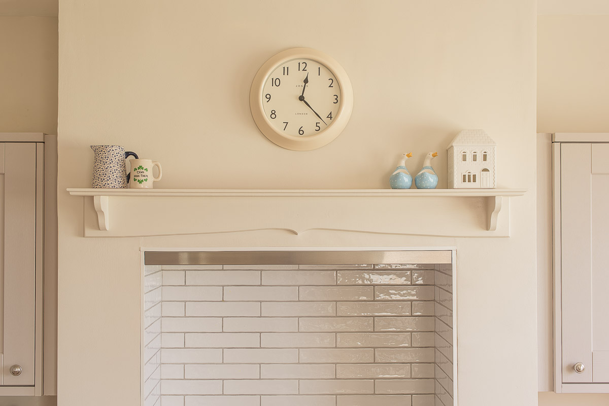 Over the cooker shelf modern farmhouse