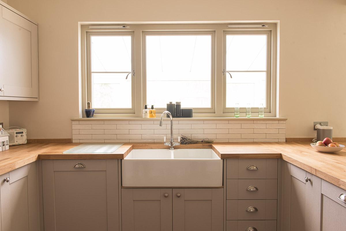 1930s modern farmhouse window installation