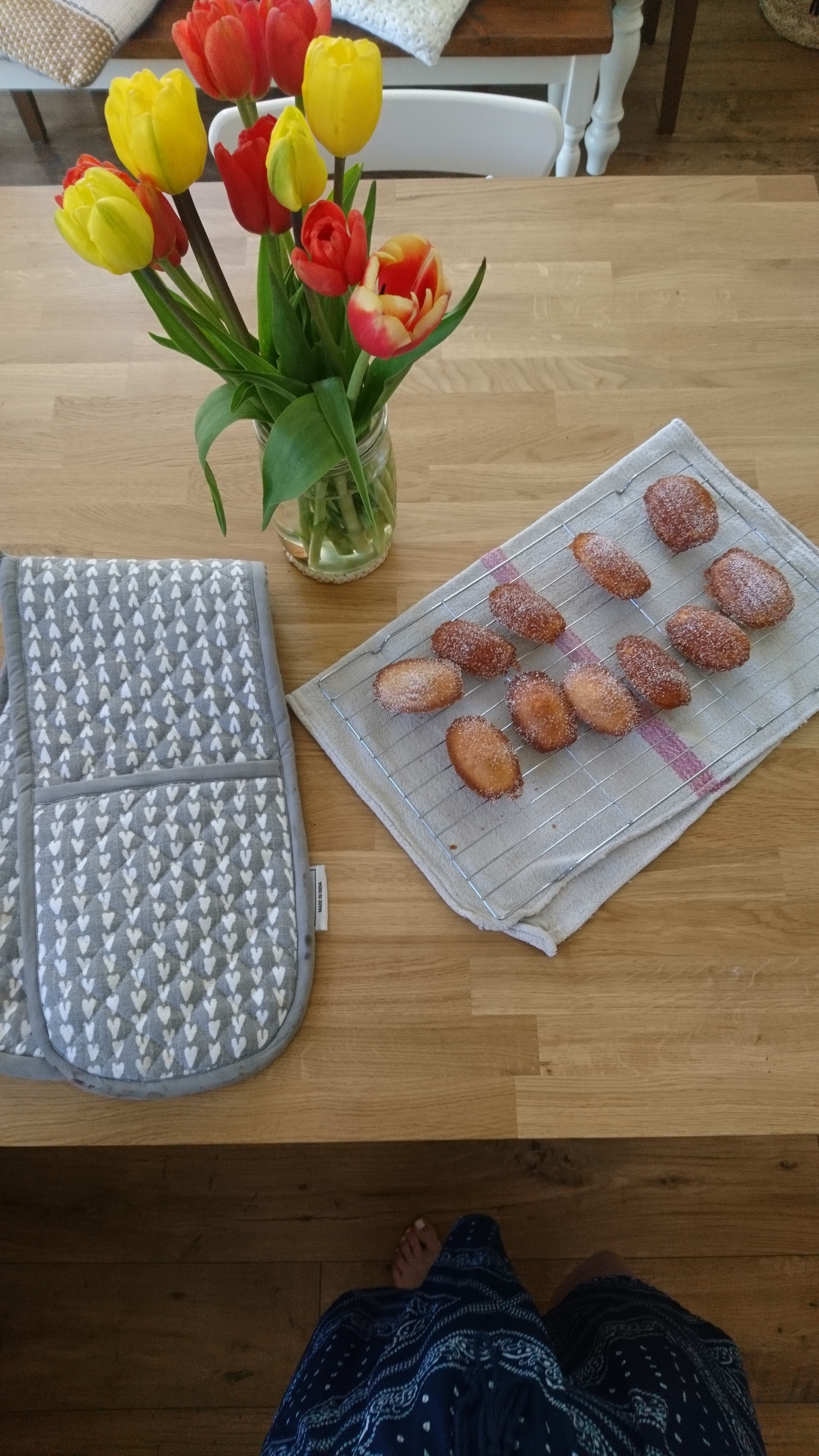 country living interior blogger baking madeleines