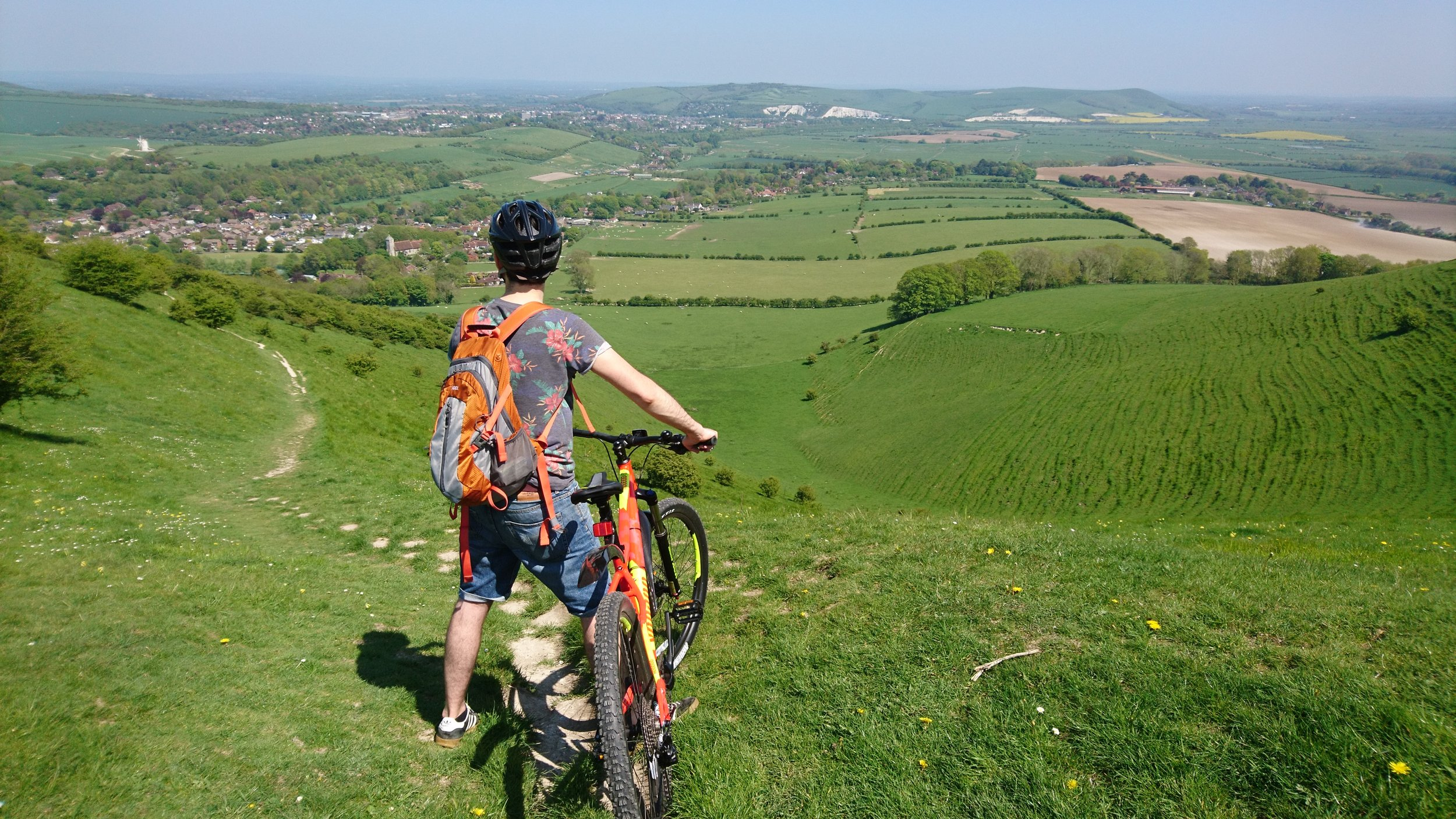 Bike ride in Sussex Downs
