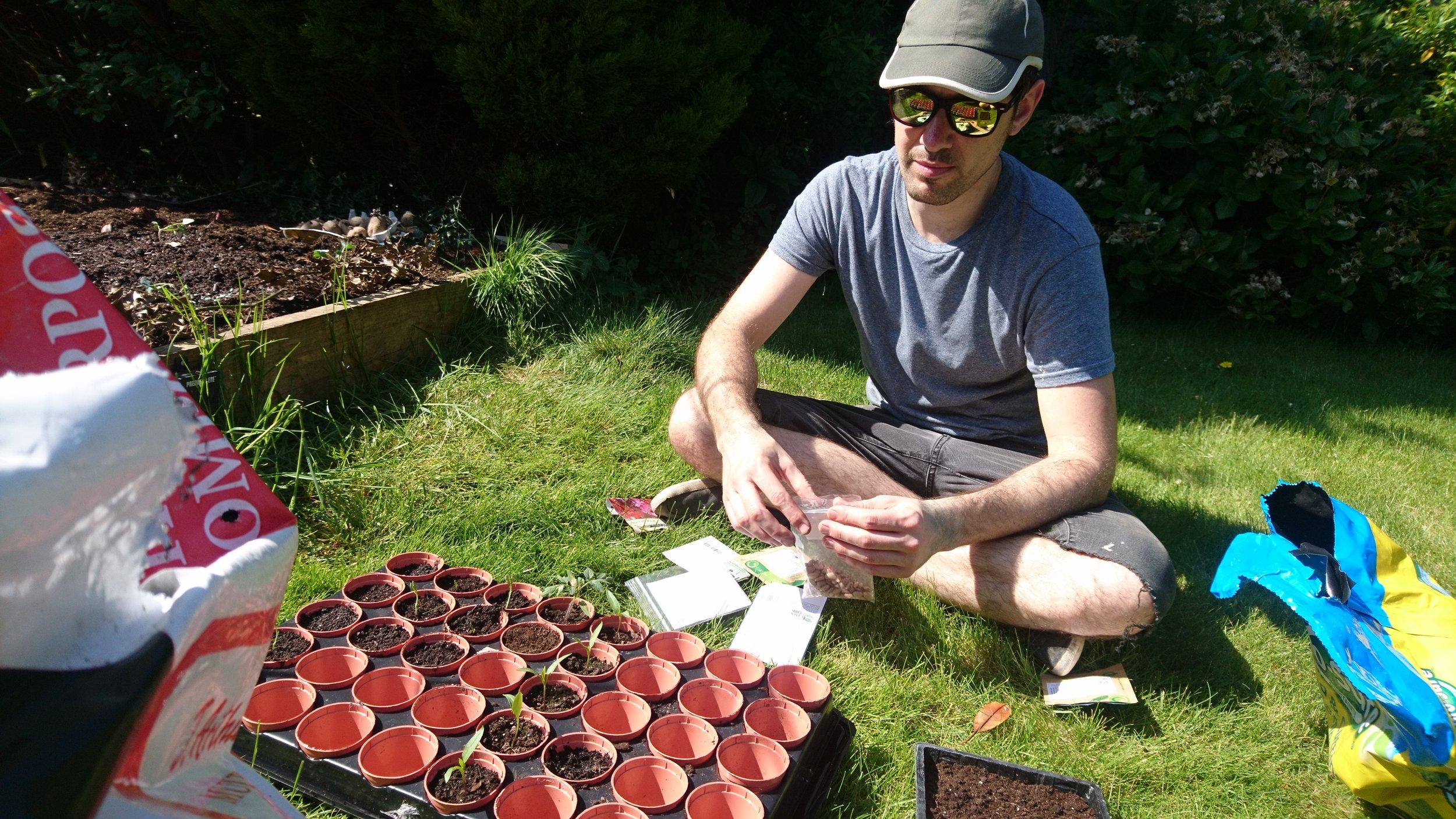 Interior blogger gardening