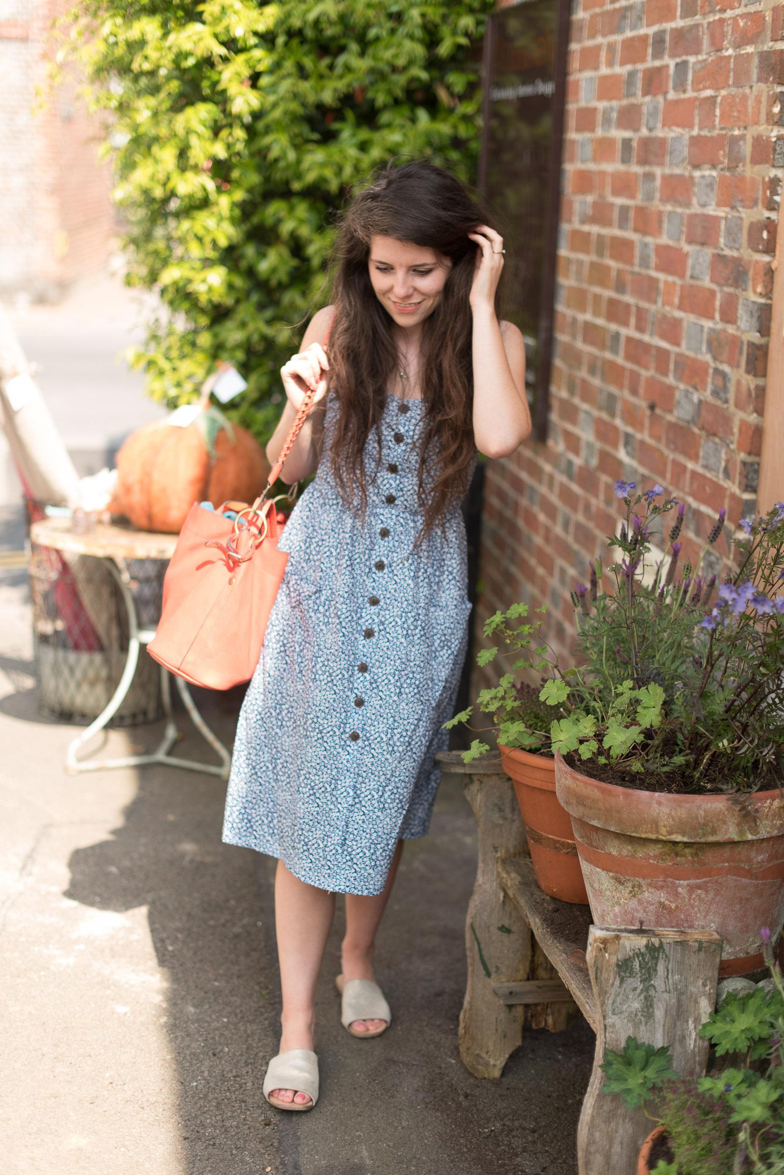 Fifi McGee Ditsy Print Midi Dress