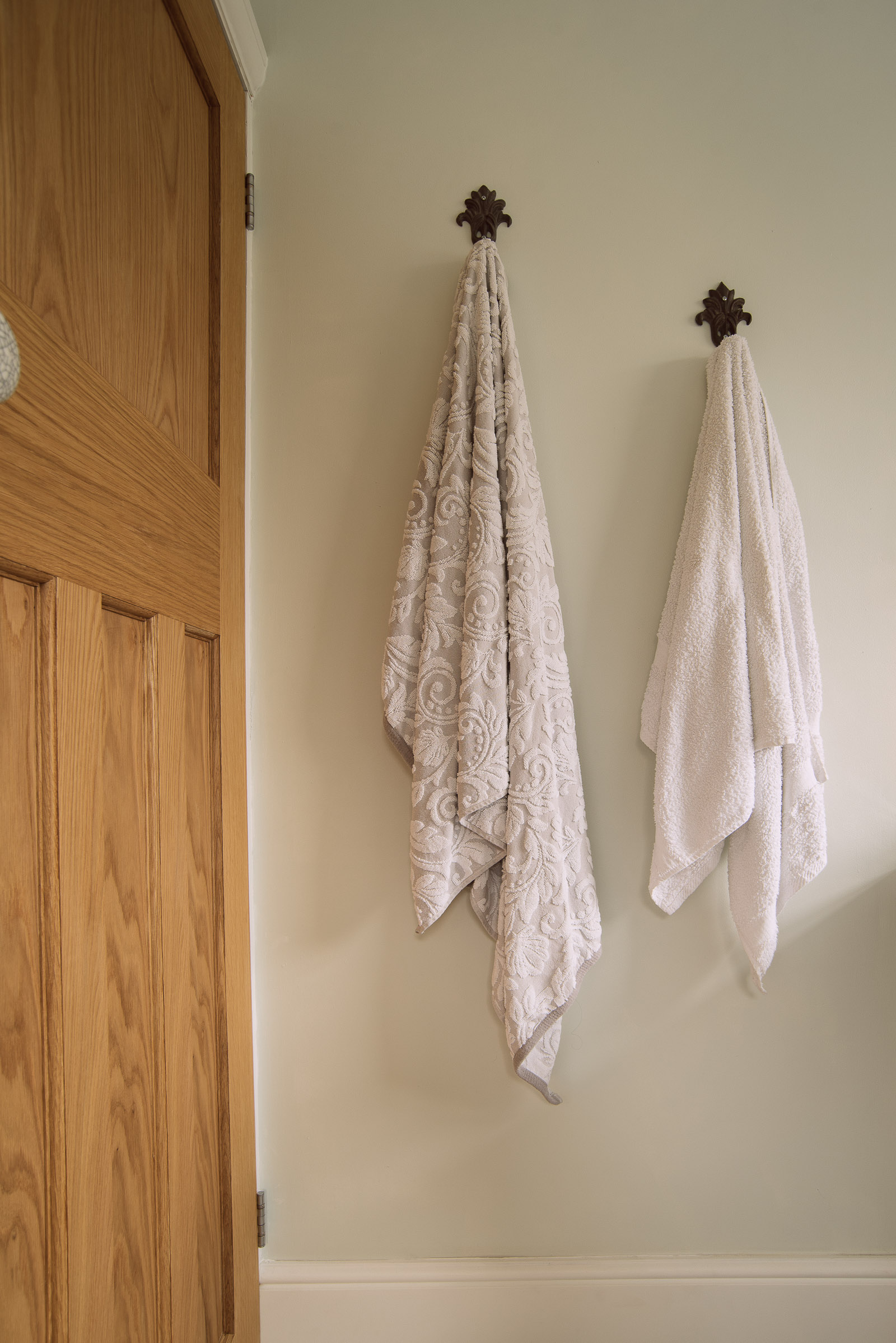Fluffy towels in our new bathroom renovation