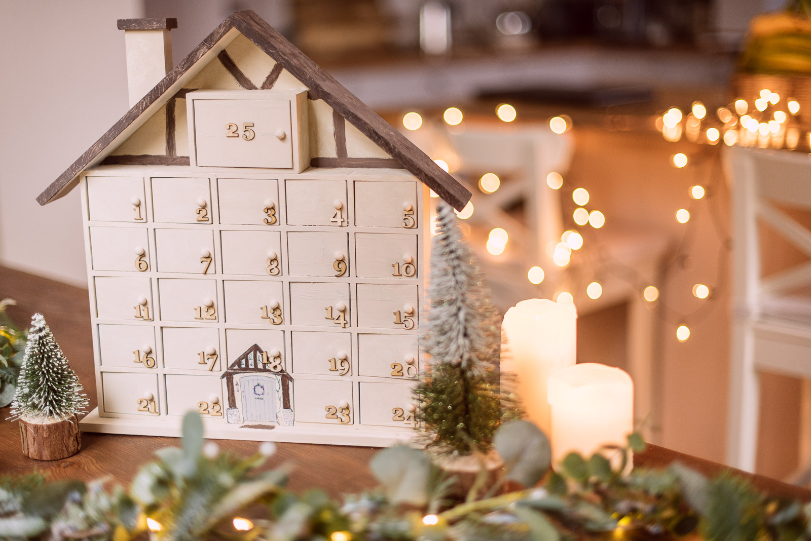 DIY Advent Calendar Christmas village