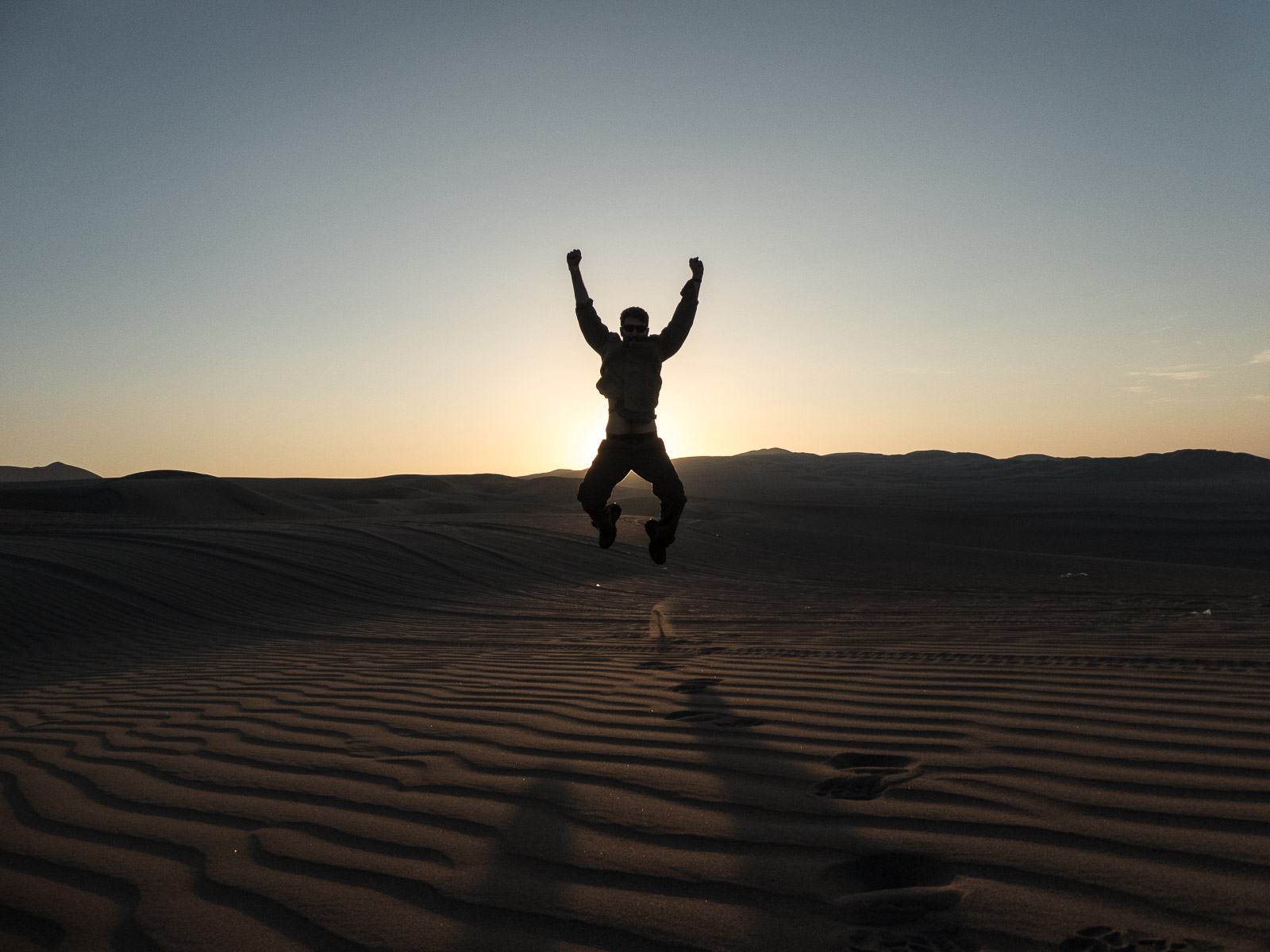 NEIL JUMPING FOR JOY IN HIS LAST PERUVIAN ADVENTURE
