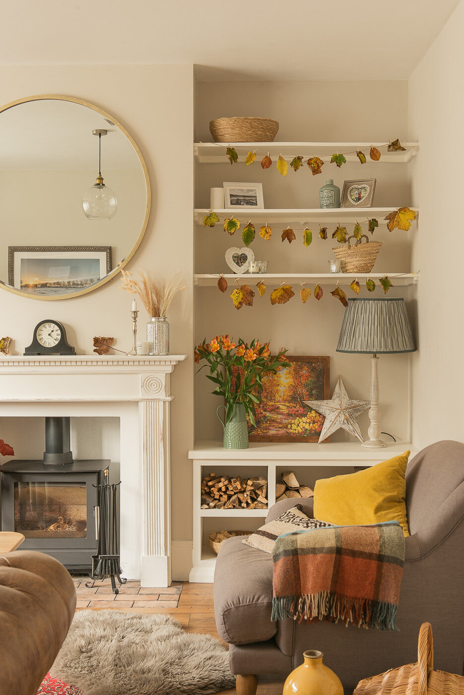 autumn living room home decoration
