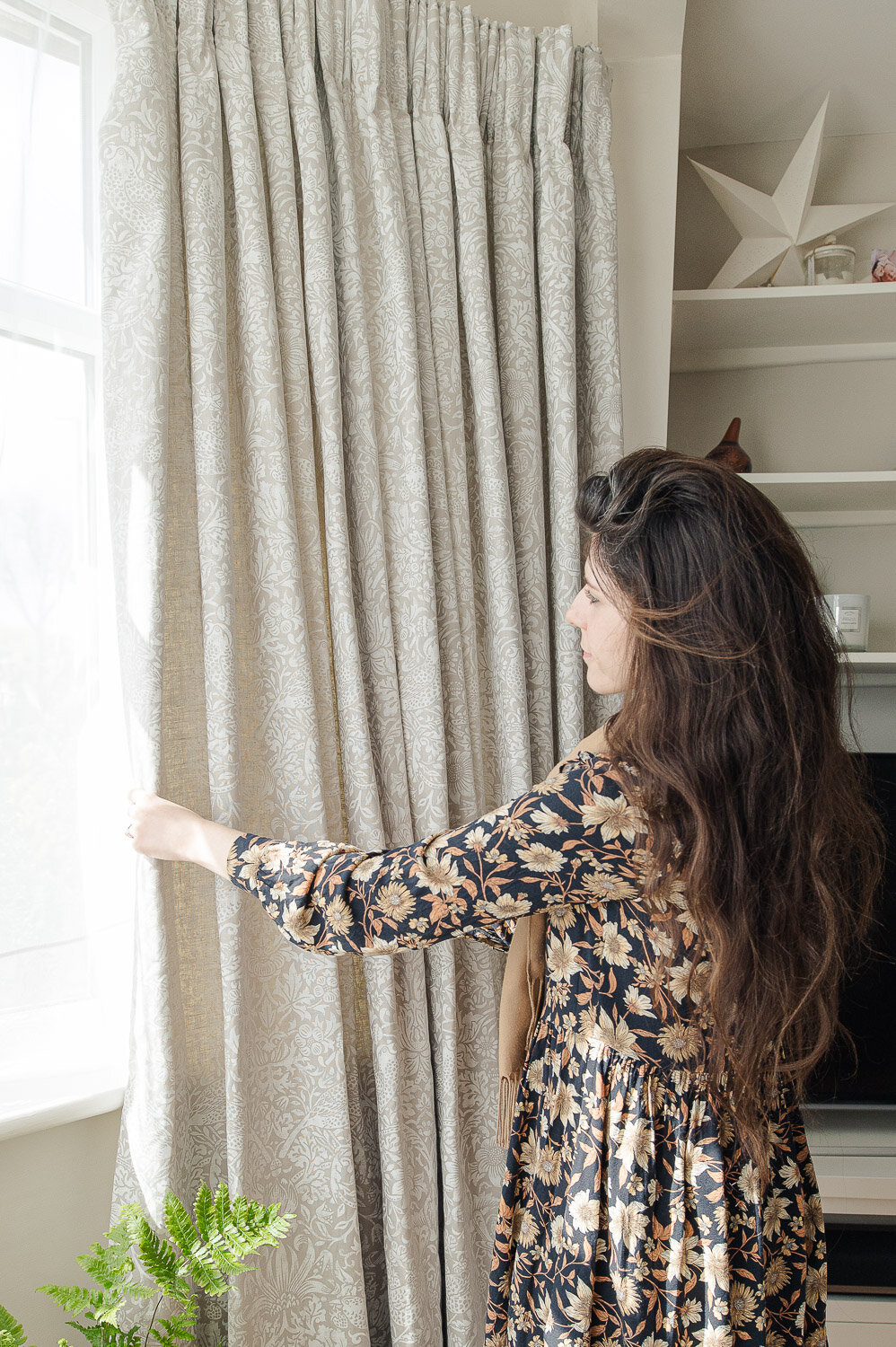 Our Bay Window Curtains Fifi Mcgee Interiors Renovation Blog