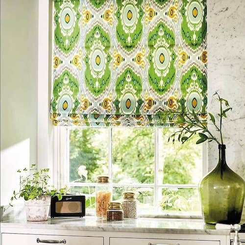 Ideas For Kitchen Curtains How To Get, Patterned Kitchen Curtains