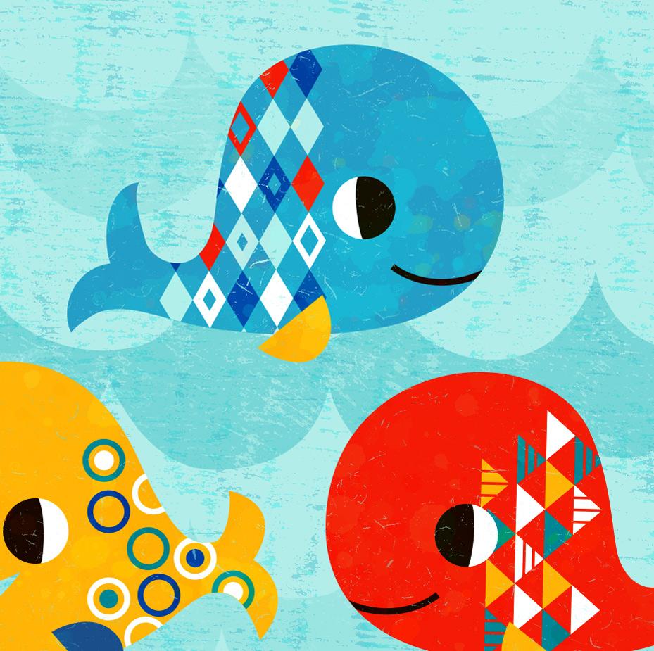 Happy Geometric Whales