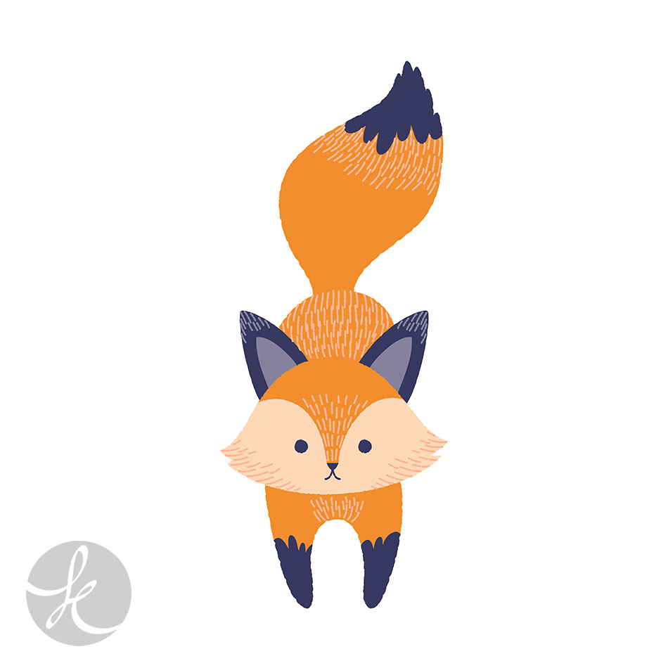 cute fox illustration