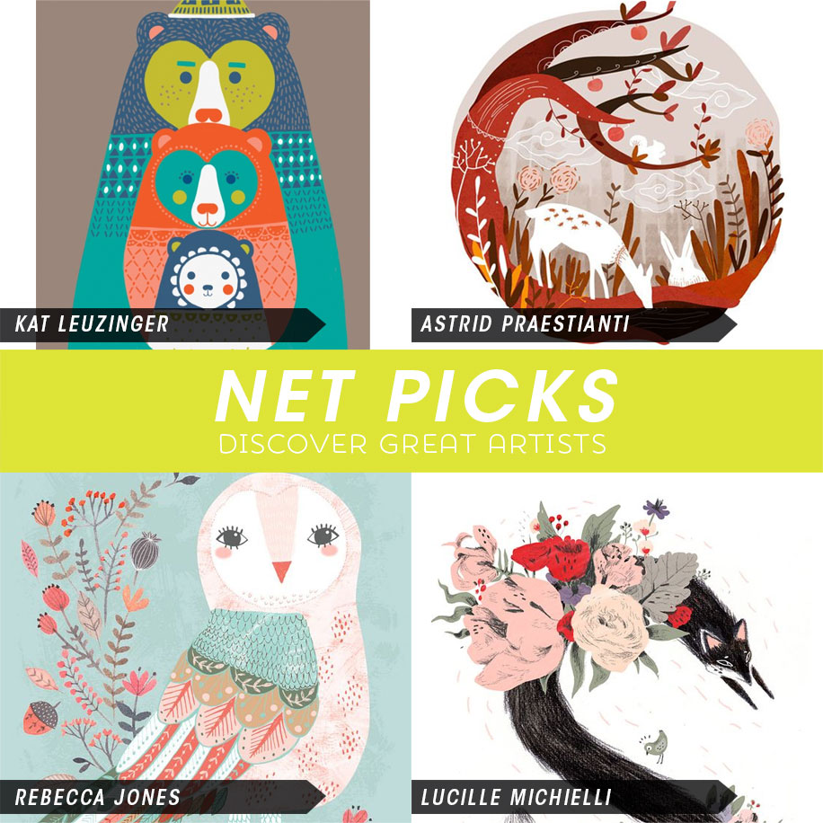 Net Picks Discover New Artists Woodland Friends via Kat Uno's Design Blog