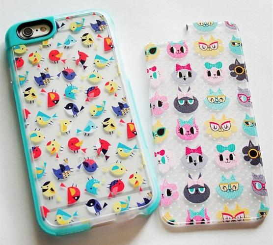 Cases with my designs on Casetify