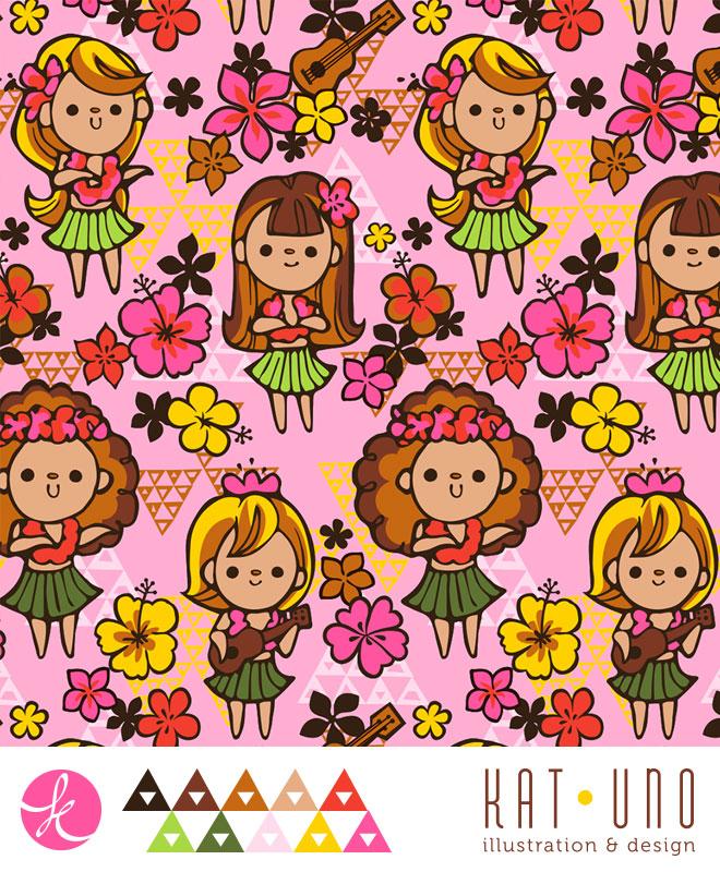 Hula Girls print via katuno.com
