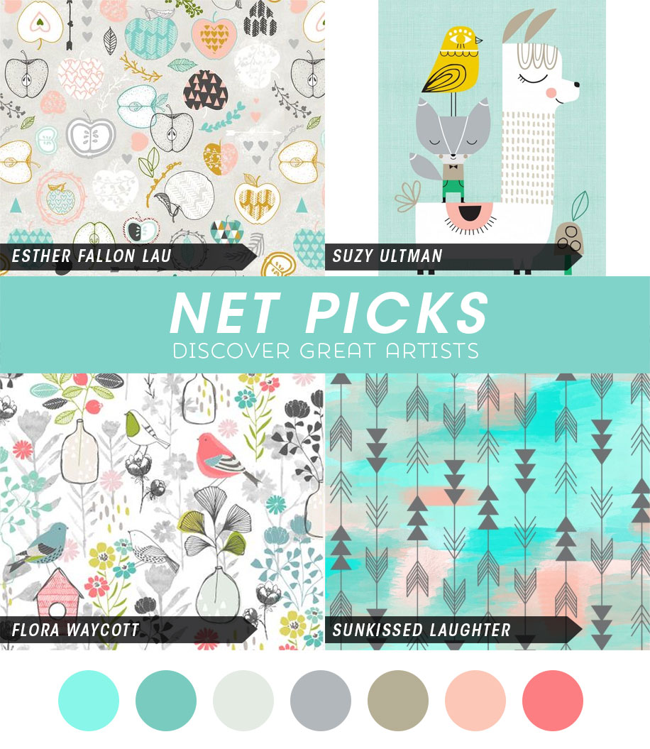 Net Picks - cool and warm color palette via katuno.com