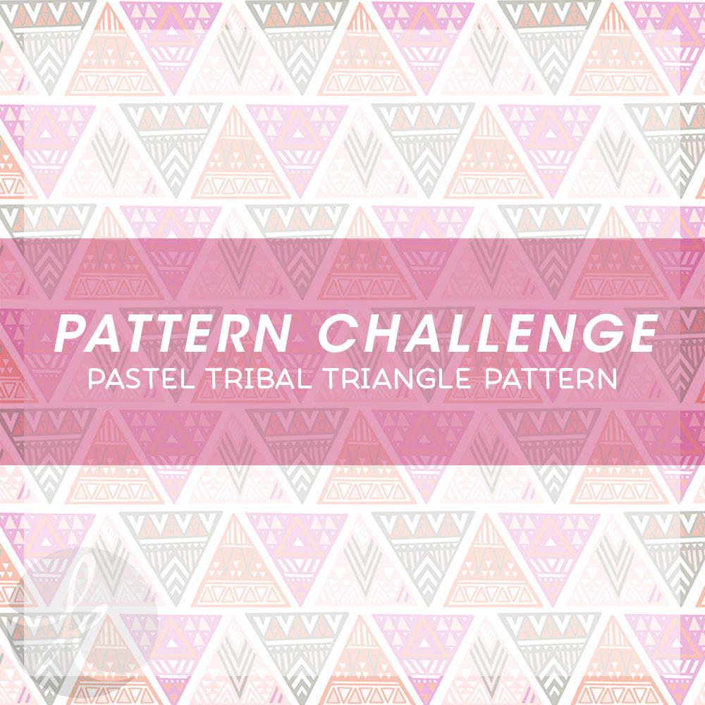 June Pattern Challenge Pastel Tribal Triangle Pattern