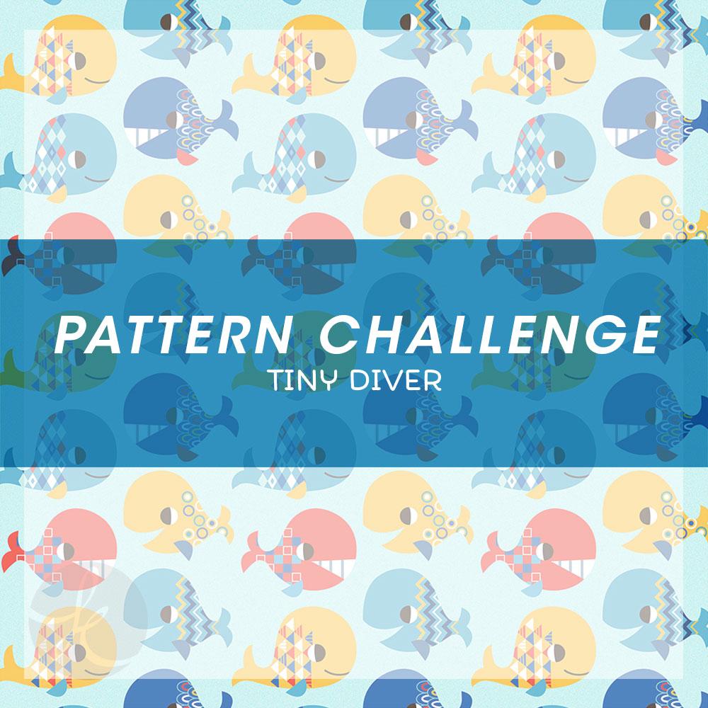 June Pattern Challenge Happy Whales pattern