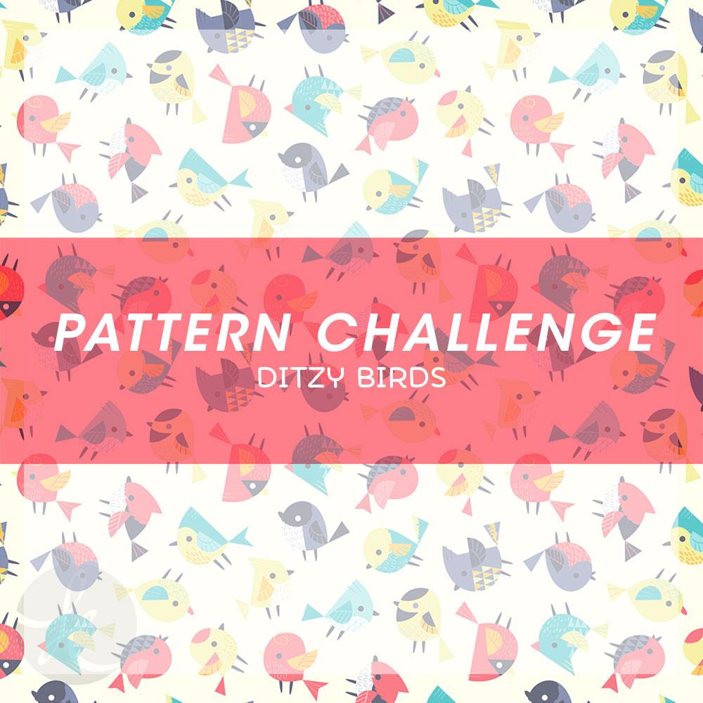 June Pattern Challenge Ditzy birds pattern
