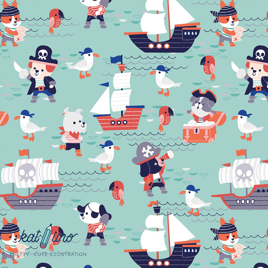 Cute Sea Dogs pattern