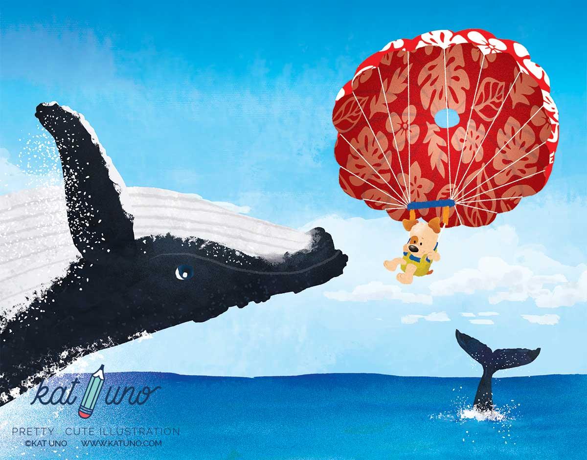 Peekaboo the Poi Dog - whale watching