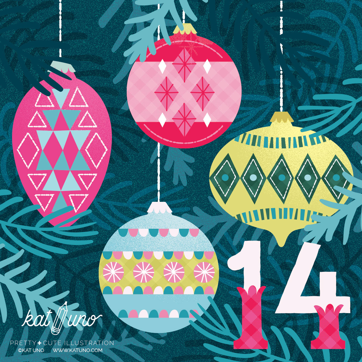 Day 14 of the Holiday Advent project Kat Uno Designs